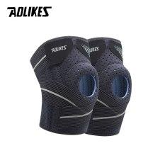 Bộ 2 đai bảo vệ đầu gối AOLIKES A-7909 nẹp lò xo hỗ trợ dây chằng khớp gối pressurized knee support
