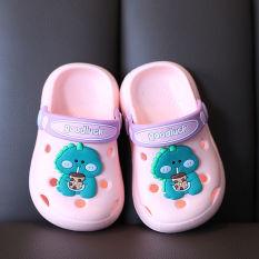 [HCM]Giày sục cao su mềm tặng kèm sticker cho bé trai và bé gái hình khủng long