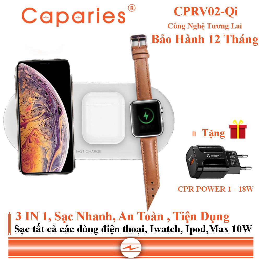 Sạc Nhanh Không Dây CAPARIES CPRV02-Qi