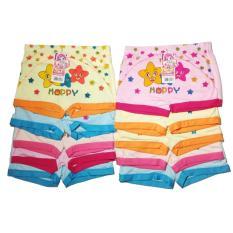 Sét 10 quần chíp đùi cho bé gái chất cotton loại sịn