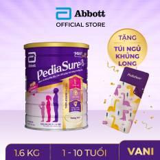 [0-2H 9.9 TẶNG LỐC SỮA 60K ĐƠN 999K]Lon sữa bột Pediasure 1.6kg hương vani tặng Túi ngủ