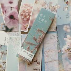 Bookmark phong cách Nhật hộp 30 tấm