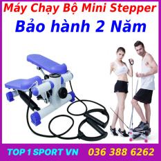 Máy chạy bộ đi bộ mini – Máy chạy bộ Mini Stepper loại cao cấp tặng kèm dây cáp co dãn + bàn xoay eo + dây lò xo đàn hồi – bảo hành 2 năm