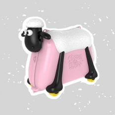 Va Li Trẻ Em Kiêm Xe Chòi Chân Cho Bé Cừu Vui Vẻ Shaun The Sheep Thương Hiệu Tới Từ Anh | Màu Hồng | Màu Hồng