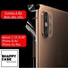 [COMBO 2 BỘ] Skin Dán Viền Trong Suốt Iphone 7/8/X/Xs/Xr/XsMax [Shappy Case]