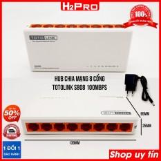 Hub chia mạng 8 cổng Totolink S808 H2Pro 100Mbps, bộ chia mạng 8 cổng giá rẻ