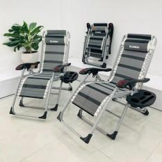 Ghế gấp xếp thư giãn SUMIKA 199 – HOT NEW 2020, lăn tay massage, khung vuông cao cấp, tải trọng 300kg bảo hành 1 năm