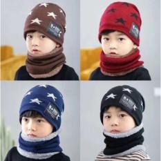 [ HÀNG DÀY – TẶNG KÈM KHĂN ] Set Mũ len kèm khăn ống cho bé từ 5 đến 15 tuổi, Mũ len kèm khăn lót lông cho bé trai bé gái hình ngôi sao cực đẹp cực đáng yêu