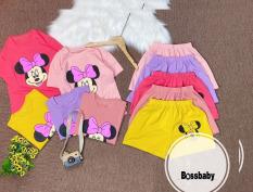 SÉT 5 đồ bộ tay ngắn chuột MECKEY bé gái,có 5 màu cho bé 6-24kg.