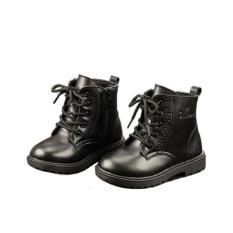 Giầy martin cho bé , giày cao cổ cho bé kiểu dáng Hàn Quốc 20566 Màu đen-22 -HQ Plaza