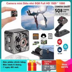 [Chỉ 1 ngày – TẶNG KÈM THẺ NHỚ 32GB Trị giá 199K ] Camera mini siêu nhỏ SQ8 HD1080P hình ảnh rõ nét Quay cả ban ngày và ban đêm (camera Hành trình và kiêm camera an ninh)