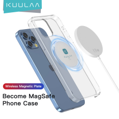 Kuulaa magnetic sheet for MagSafe wireless charging car mobile phone Apple 12 bracket magnetic patch cover Shell magnet