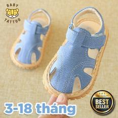 Dép sandal tập đi đế mềm chống trượt cho bé từ 3 – 18 tháng