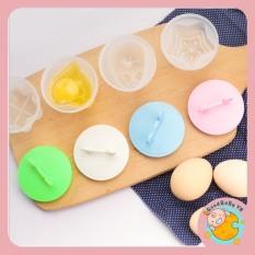 Khuôn hấp trứng, làm bánh cho bé (bộ 4 khuôn nhựa kèm chổi silicon quét dầu) GoodbabyvnTBVN