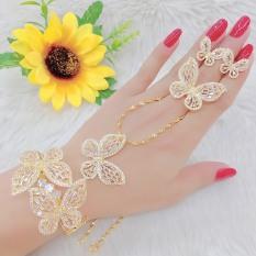 bộ trang sức đính đá họa tiết cánh bướm thời trang chạm đá tinh xảo phong cách thời thượng Trang Sức Kado B4180658- làm quà tặng bất ngờ vô cùng ý nghĩa