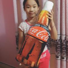 COCA COLA NƯỚC NGỌT ĐỒ CHƠI NHỒI BÔNG HÌNH CHAI COCA [72cm] DỄ THƯƠNG GỐI ÔM IN 3D CHO BÉ