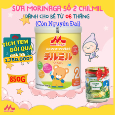[MUA 1 TẶNG 1] Sữa Morinaga Số 2 Chilmil Nhật Bản 850g còn nguyên đai | Dành cho bé từ 6 – 36 tháng tuổi | HSD: năm 2022