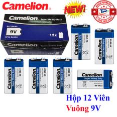 Hộp 12 Viên Pin vuông 9V Camelion Super Heavy Duty Battery – 6F22 (mẫu mới)