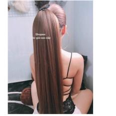 tóc giả dài thẳng 🎁 FREESHIP 🎁 Tóc giả cột thẳng bấm nhuyễn từng sợi tóc