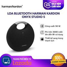 [HÀNG CHÍNH HÃNG] Loa Bluetooth Harman Kardon Onyx Studio 5 50W – Âm bass dày chắc khỏe – Thời gian phát nhạc liên tục đến 5 giờ