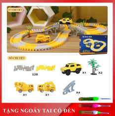Đồ chơi trẻ em- Đồ chơi phát triển trí tuệ trẻ- Đồ chơi lắp ghép đường ray ô tô, tàu hỏa nhiều chi tiết cho bé