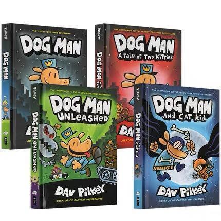 Sách nhập khẩu - DOG MAN - 4 cuốn