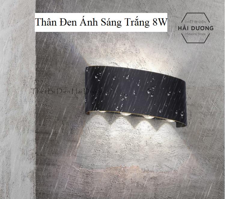 Đèn trang trí hắt tường 2 đầu – 8w chống nước TN189 (Đen/Trắng)