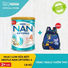 [FREESHIP] Sữa bột Nestle NAN Optipro 4 cho trẻ trên 2 tuổi 1.8kg + Tặng 1 Balo vườn thú (QUÀ ĐỘC QUYỀN) – Cam kết HSD còn ít nhất 10 tháng