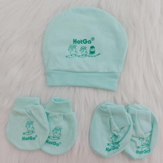 Combo nón che thóp và bao tay bao chân màu HotGa cho bé sơ sinh từ 0-3 tháng – BEEKIDS PLAZA