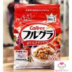 [HSD T5/2021] Ngũ cốc trái cây Calbee màu đỏ 800g – Nhật Bản hương vị thơm ngon hấp dẫn