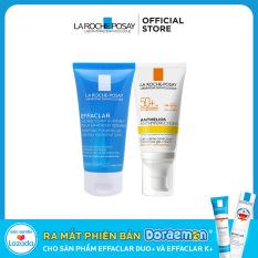 Bộ đôi Kem chống nắng La Roche-Posay Anthelios Anti-Imperfection 50ml & Gel rửa mặt dành cho da dầu mụn Effaclar Gel 50ml