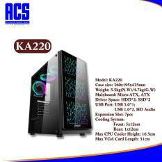 [ HÀNG MỚI VỀ ] Vỏ Nguồn Máy Tính VSP KA-220 Kính Cường Lực – Case VSP KA 220 Nebula