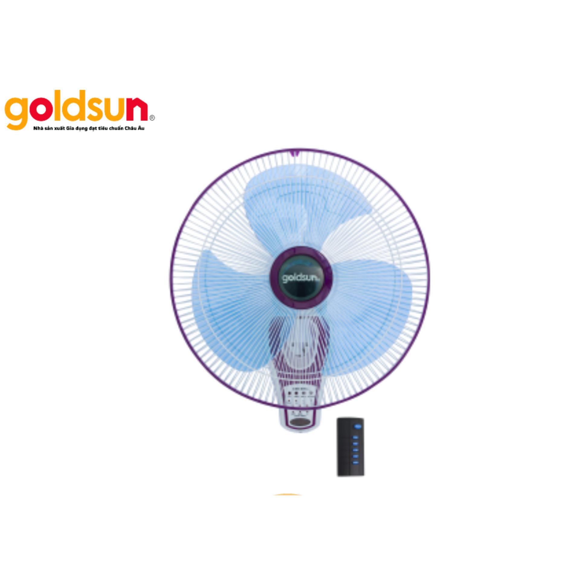 Quạt treo remote Goldsun W4002 45W (Trắng tím)