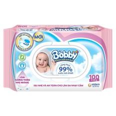 Khăn Ướt Bobby 100 miếng – hàng chính hãng