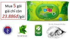 Khăn ướt Baby ABC Green Tea – Tinh Chất Trà Xanh kháng khuẩn – 80 sheets