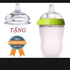 Bình sữa comotomo 250ml tặng kèm 1 núm ti thay thế phù hợp với con nhà bạn