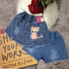 Quần jeans giả váy siêu xinh cho bé gái