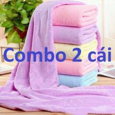 (Combo 2) Khăn tắm xuất dư , sợi vải mền, lông siêu mịn , thấm nước cực tốt , kích thước 140cm * 70cm ( giao đủ màu lộn xộn nhé khách )