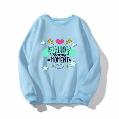 áo sweater in chữ monment