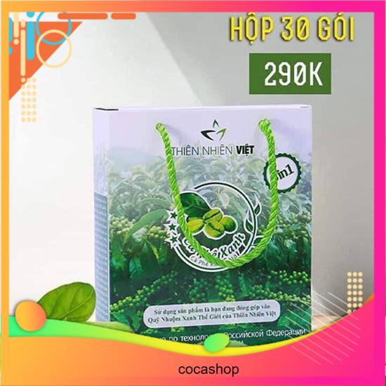 SỈ 3 Hộp cà phê xanh kháng mỡ THIÊN NHIÊN VIỆT 30 GÓI ( mẫu mới có tem chống hàng giả )