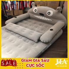 [Kèm ảnh thật] Giường đệm hơi hình thú cao cấp, nêm hơi chất lượng cao tặng kèm bơm (GDHOAC81 + GDHIEU64)