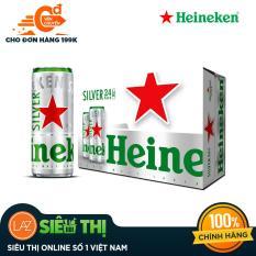 Thùng 6 lon Heineken silver mới (330ml/lon)