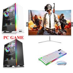 [MÁY MỚI 100%] Bộ máy tính để bàn pc Game màn 24 inch cong H110 dùng Ram drr4 (nhanh hơn 3 lần drr3) … Chip intel i3 6100, ổ SSD, CHƠI GAME SIÊU MƯỢT sản phẩm trọn bộ