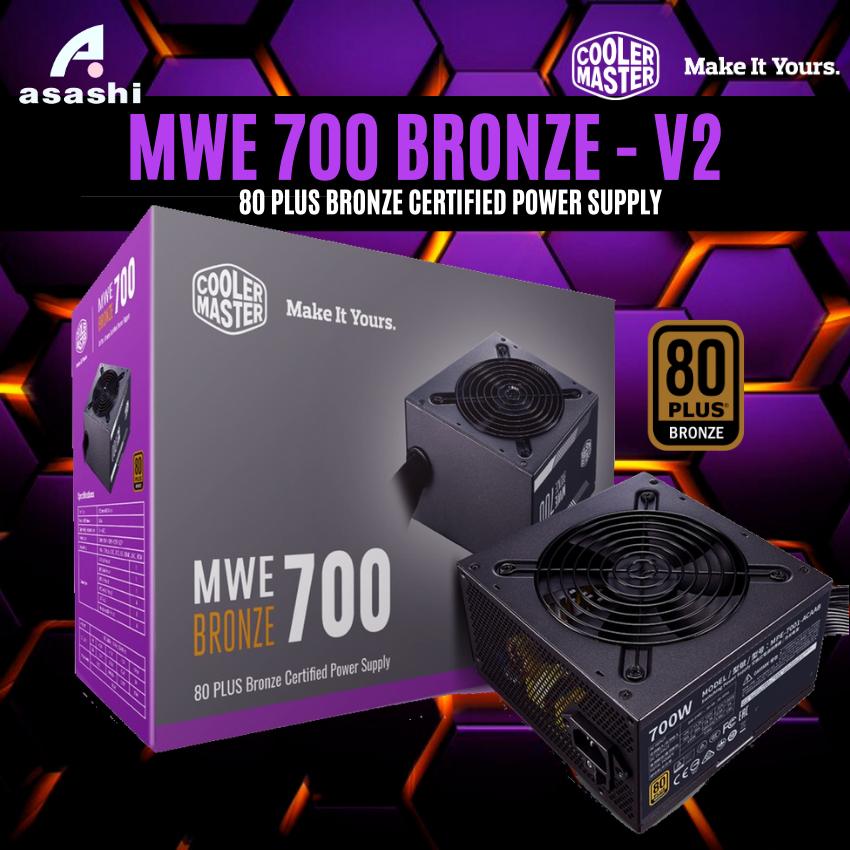 [Nhập ELJAN11 giảm 10%, tối đa 200k, đơn từ 99k]PSU Nguồn máy tính Cooler Master MWE BRONZE 700 V2 – 700W