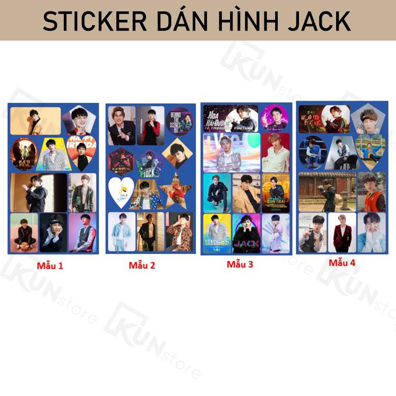 Sticker Ảnh Dán JACK J97 - 1 Set Gồm 10 ảnh
