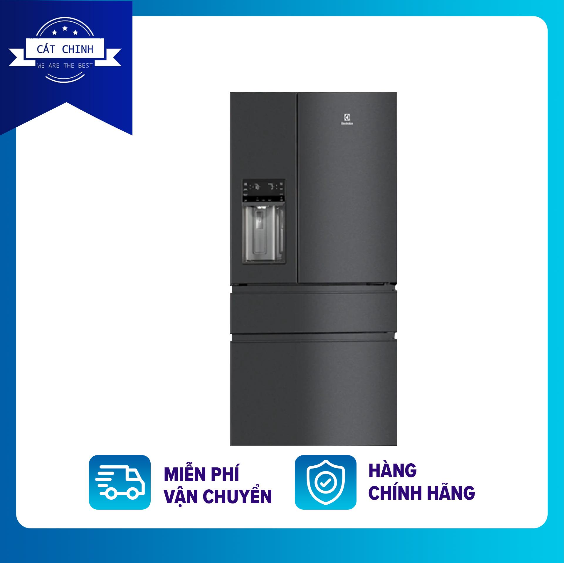 [Trả góp 0%]TỦ LẠNH ELECTROLUX EHE6879A-B-Công nghệ Inverter:Tủ lạnh Inverter-Công suất tiêu thụ:~ 1.03 kW/ngày-Tiện ích:Inverter tiết kiệm điện Ngăn đá lớnChuông báo cửa mởNgăn kệ linh hoạt FlexStor-Bảo hành 2 năm