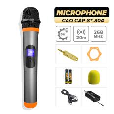 Micro không dây [KÈM QUÀ] lẻ cao cấp C.O.K ST-304 (1 Micro tương thích với 1 đầu thu) [Micro Karaoke dành cho loa kéo, dàn âm Ly có cổng Mic Jack 6.5] – Hàng mới 100% chính hãng bảo hành 6 tháng