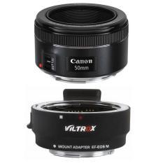 Canon EF 50mm f/1.8 STM – Ngàm Chuyển Auto Focus Viltrox EF-EOS M Cho Canon EOS M – Hàng Canon Lê Bảo Minh