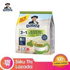 (FS) Thức Uống Ngũ Cốc Yến Mạch Quaker 3in1 – Vị trà xanh 336g – HSD 6/12/20