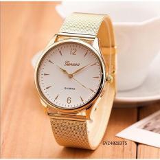 Đồng hồ thời trang nam nữ Geneva dây lưới SC011
